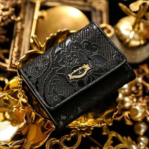 お金を引き寄せ守る黒い財布 FRUTTI DI BOSCO メゾ メルレット ブリリアントブラック